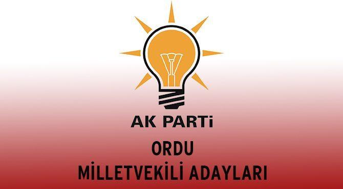 Ordu AKP Milletvekili Adayları - Genel Seçim 2015