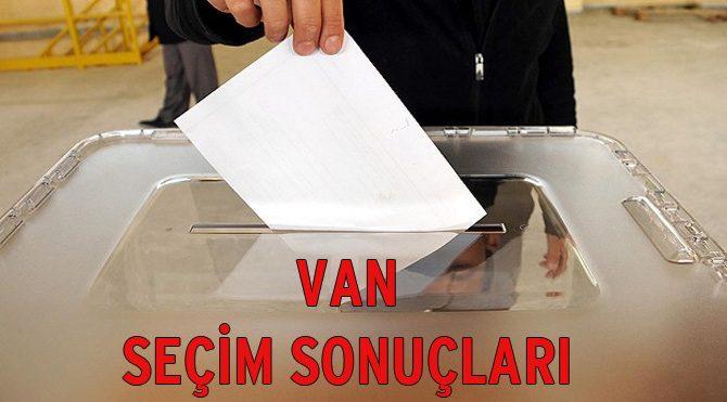 Seçim Sonuçları 2015: Van seçim sonuçları belli oldu!