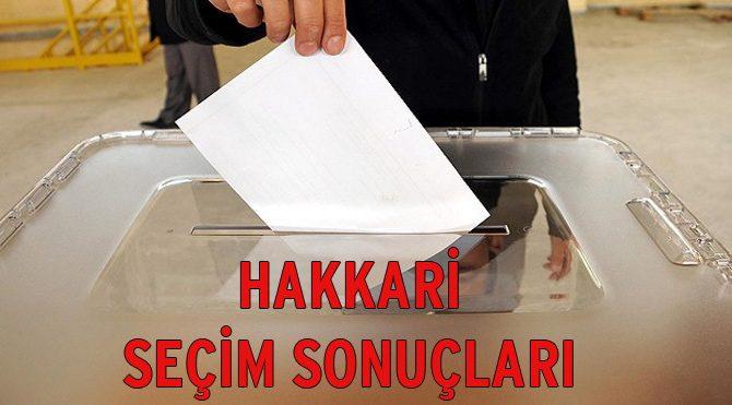 Hakkari seçim sonuçları açıklandı – 2015 Genel Seçim son durum