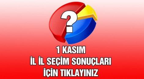 1 Kasım Konya seçim sonuçları son durum