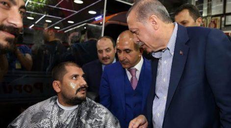 Cumhurbaşkanı Erdoğan'a ağdayla yakalandı