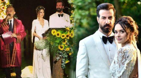 Hande Soral düğün görüntüleri ile büyüledi! Hande Soral ve İsmail Demirci evlendi...