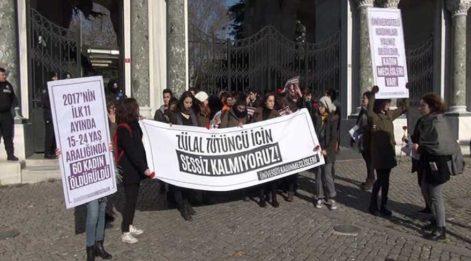 Üniversiteli kadın öğrenciler Zülal Tütüncü için eylemde