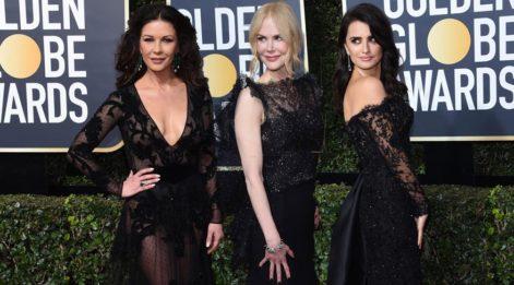 75. Golden Globes (Altın Küre) kırmızı halısına siyah kıyafetler damgasını vurdu