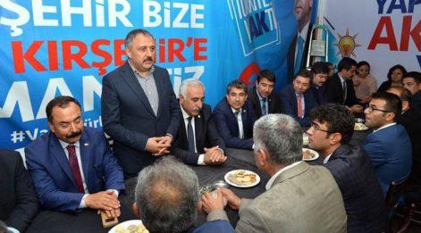 CHP İl Teşkilatı , AKP Seçim Bürosunu ziyaret etti