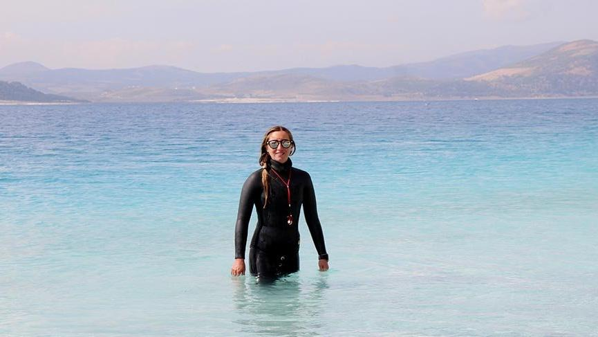 Salda Gölü'nde Şahika Ercümen rüzgarı