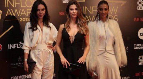Influencer, ajans ve markaların ödüllendirildiği ödül töreninde ünlüler geçidi