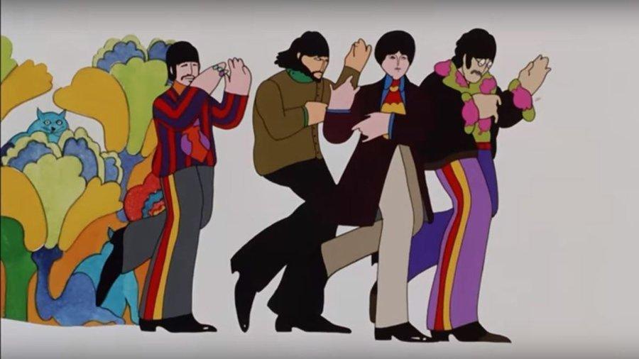 Beatles grubunun 1968'de yayınlanan animasyon filminden bir kare...