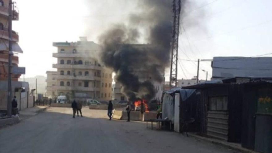 Afrin'de bombalı saldırı: Ölü ve yaralılar var