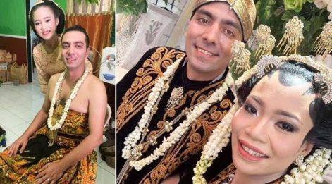 Türk damada Endonezya usulü düğün