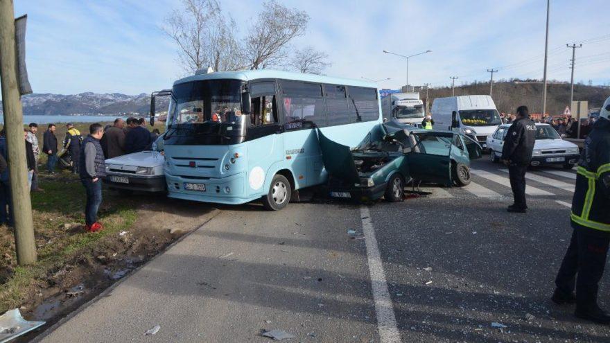 Ordu'da zincirleme trafik kazası: 2 ölü