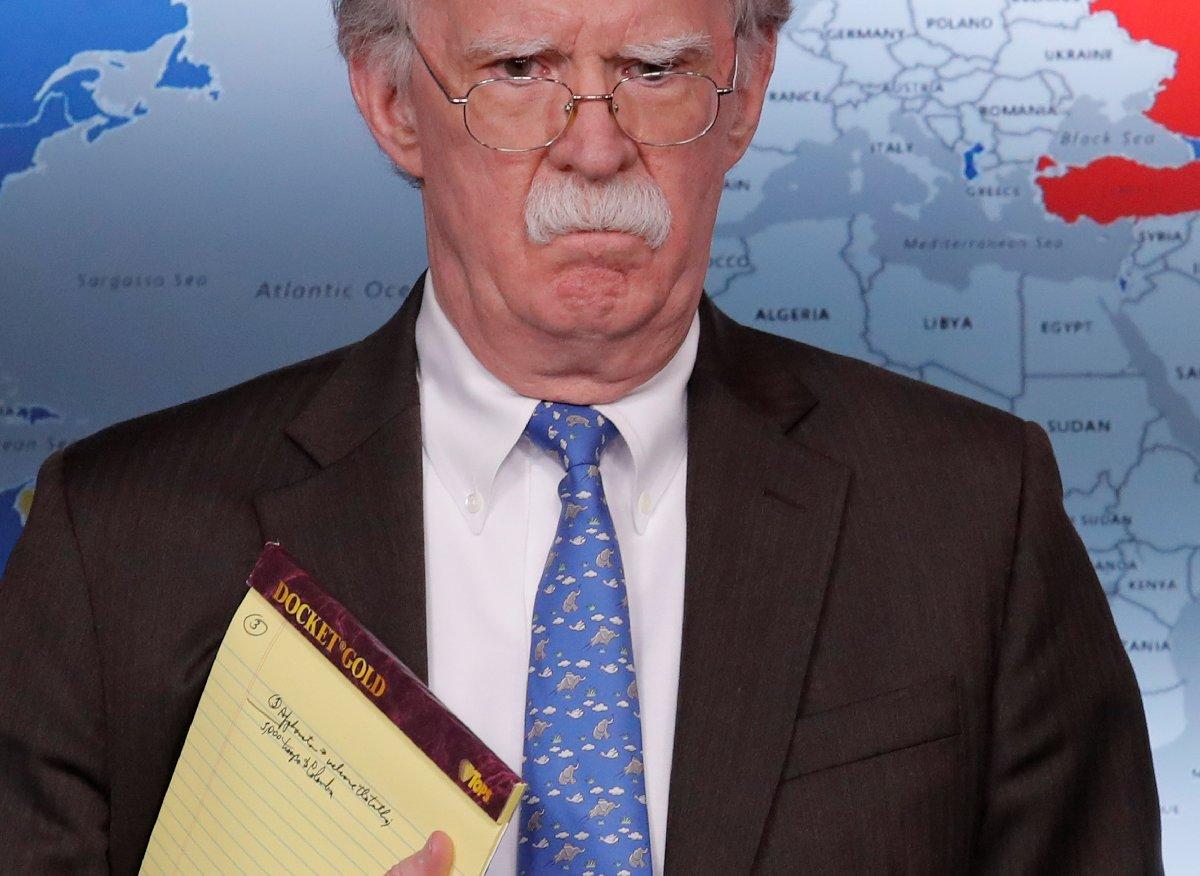 Bolton'ın notları dikkat çekti.
