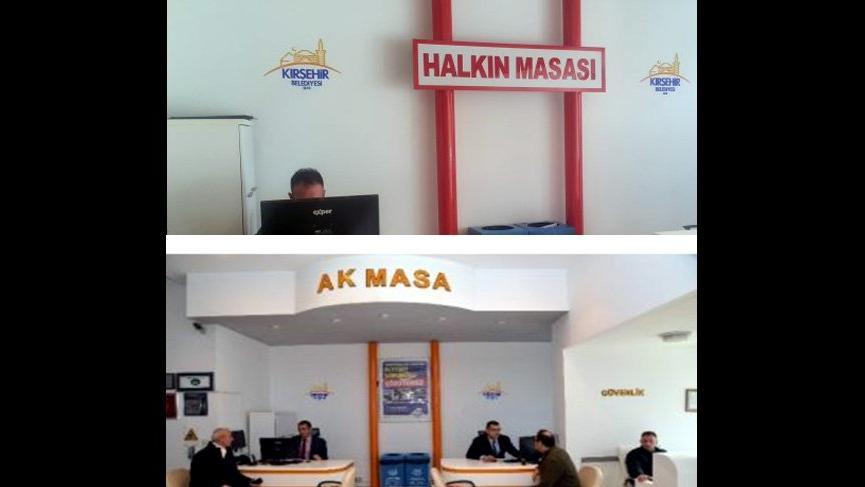 Kırşehir'de 'Ak Masa' gitti, 'Halkın Masası' geldi