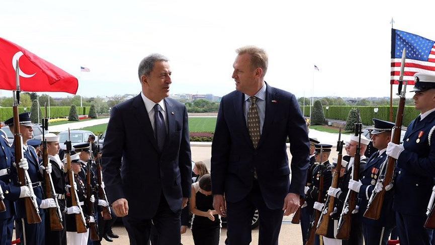 Bakan Akar, ABD Savunma Bakanı Vekili Shanahan ile görüştü