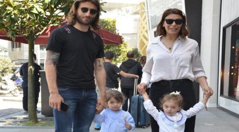 Ebru Şancı Öztürk, eşi Alparslan ve çocuklarıyla vakit geçirdi