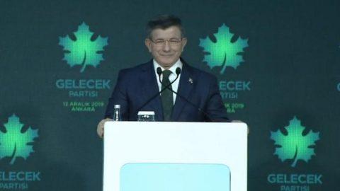 Davutoğlu partisini ilan etti: Gelecek Partisi