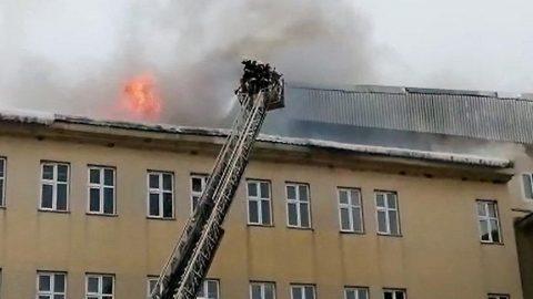 Üniversitede yangın çıktı: Büyük panik yaşandı