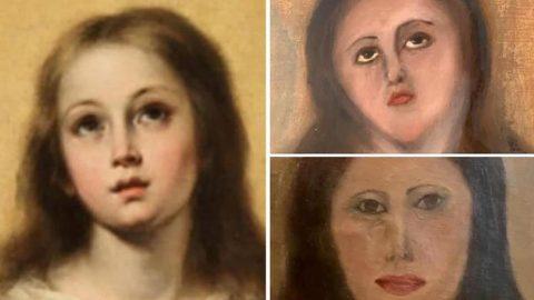 Meryem Ana tablosuna sanat katliamı! Restore edecekken tanınmaz hale getirdi