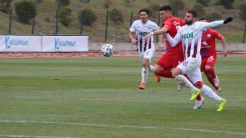 Bandırmaspor Altınordu maçı protestoyla başladı, puanlar paylaşıldı