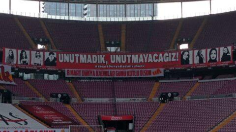 Galatasaray-Sivasspor maçında Dünya Kadınlar Günü unutulmadı