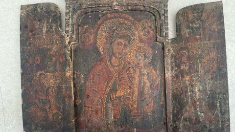 'Meryem Ana' figürlü resim ele geçirildi