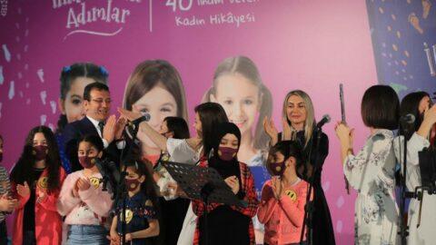 Kız çocuklarıyla buluşan İmamoğlu çifti 'Büyüt Hayallerini' projesini tanıttı