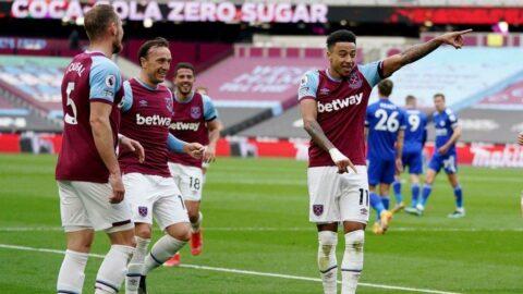 West Ham, Leicester City'yi yenip yerini korudu