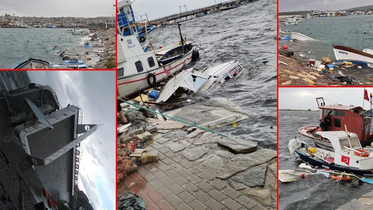 İzmir ve Balıkesir'de 109 tekne battı