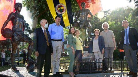 Fenerbahçe efsanesi Can Bartu'nun heykeli açıldı