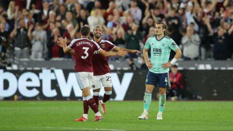 West Ham United-Leicester City maçında 5 gol! Çağlar Söyüncü'den inanılmaz hata