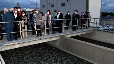 Müsilaj komisyonu üyeleri, atık su arıtma merkezini inceledi