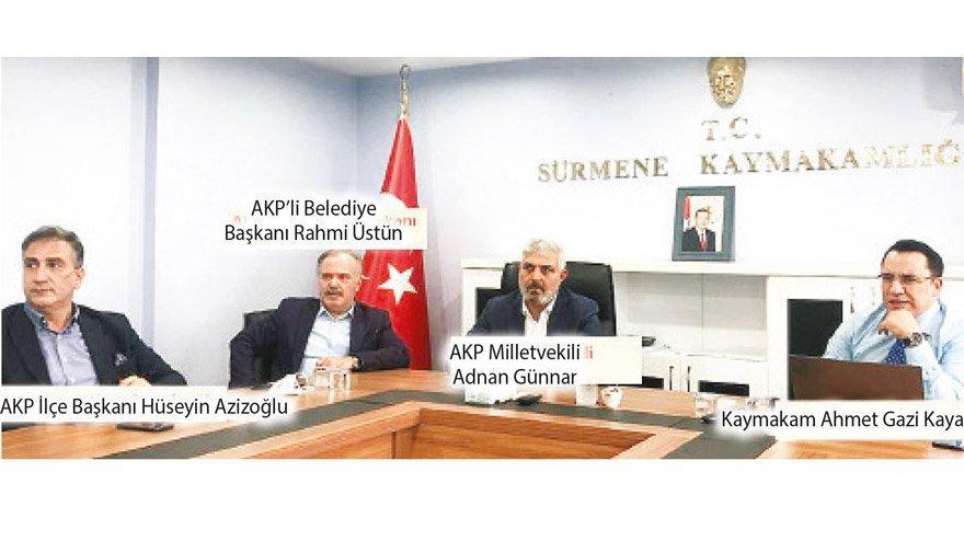 Kaymakamdan AKP'ye sunum Afet yardımında AKP'den şov!