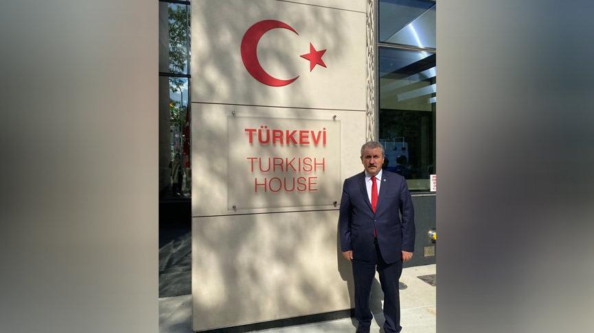 Mustafa Destici,New York'taki Türk Evi binası açılışına katıldı