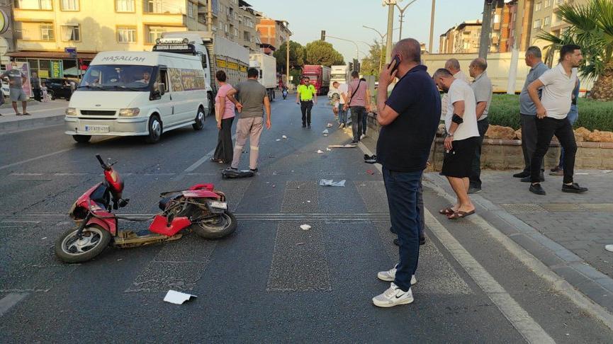 Bisiklet sürücüsüne çarpıp kaçan ehliyetsiz sürücü, kırık dikiz aynasından yakalandı