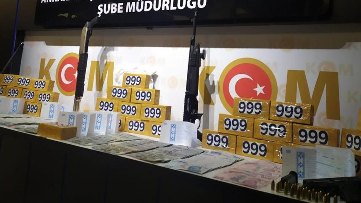 Ankara'da 71 kilo 634 gram kokain ele geçirildi!