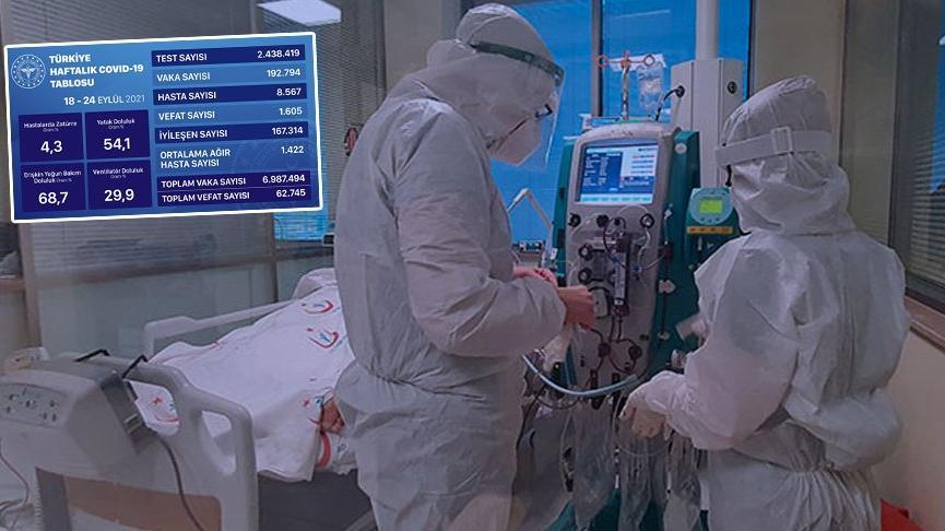Sağlık Bakanlığı, mavi tabloyu açıkladı: Bir haftada kritik artış