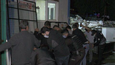 Yabancı uyruklu kâğıt toplayıcılarına gece yarısı operasyon