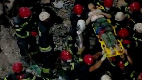 Gürcistan'da mucize: Çöken binadan 8 saat sonra sağ kurtuldu