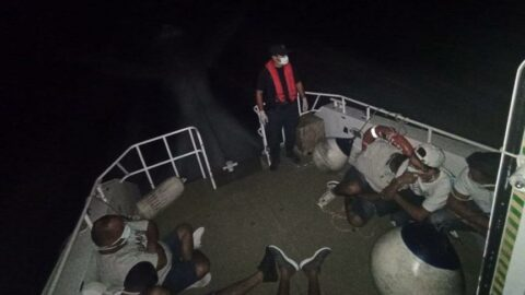 Bodrum'da 25 kaçak göçmen yakalandı, 7 kaçak göçmen de kurtarıldı