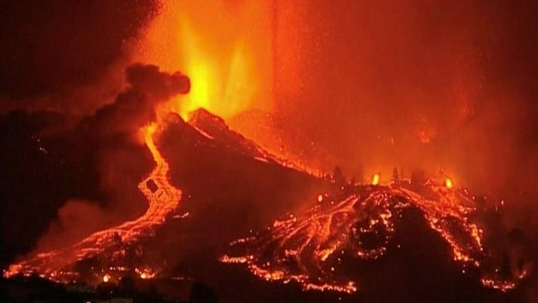 Felaketi yaşayan La Palma'da yüzlerce kişi için tahliye emri