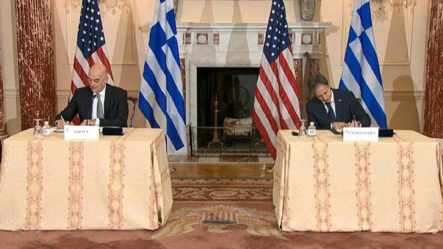 Yunanistan ile ABD Ortak Savunma Anlaşması imzaladı