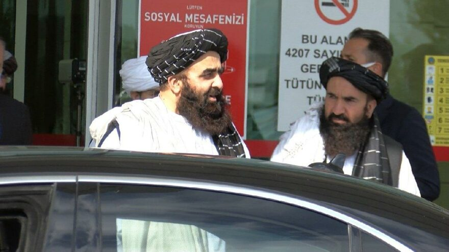 Taliban heyeti VIP'den geçti, Türkiye'ye geldi