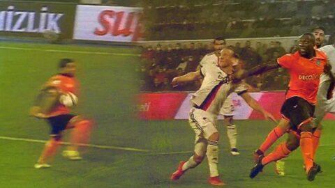 Başakşehir Beşiktaş maçında penaltı tartışması! Büyük tepki geldi…