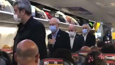 Tarifeli yolcu uçağında Kılıçdaroğlu şaşkınlığı