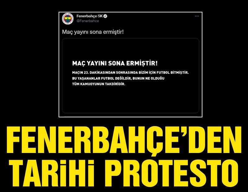 Fenerbahçe, Trabzonspor maçının yayınını 23. dakikada kesti!