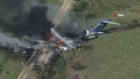 ABD'de uçak düştü! Tüm yolcu ve mürettebat sağ kurtuldu