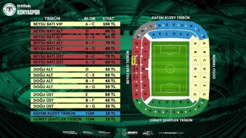 Konyaspor'dan yüzde 50 bilet indirimi