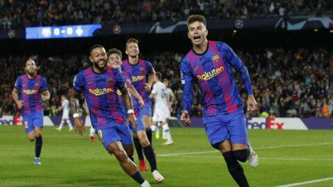 Barcelona Şampiyonlar Ligi'nde nefes aldı! Pique tarih yazdı...