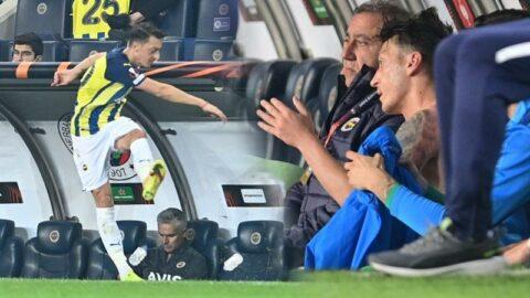 Mesut Özil çılgına döndü! Suları tekmeledi, küfürler savurdu