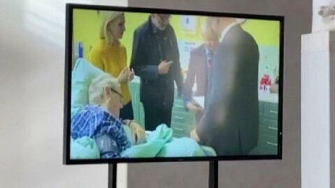 Hastaneye kaldırılan Çekya Cumhurbaşkanı Zeman'dan ilk görüntü
